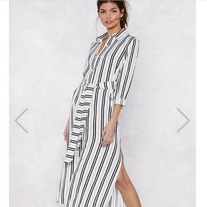 Nasty Gal striped dress NWOT